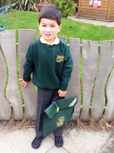 Ethan's first day at school