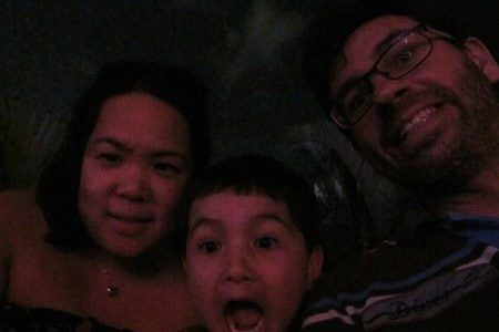 Selfie before the water and light show at Ocean Park