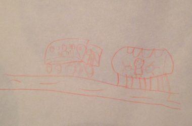 train-drawing