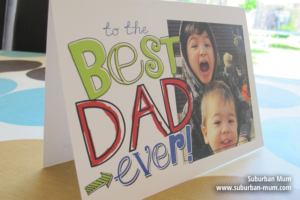 Father's Day personalised card by Snapfish