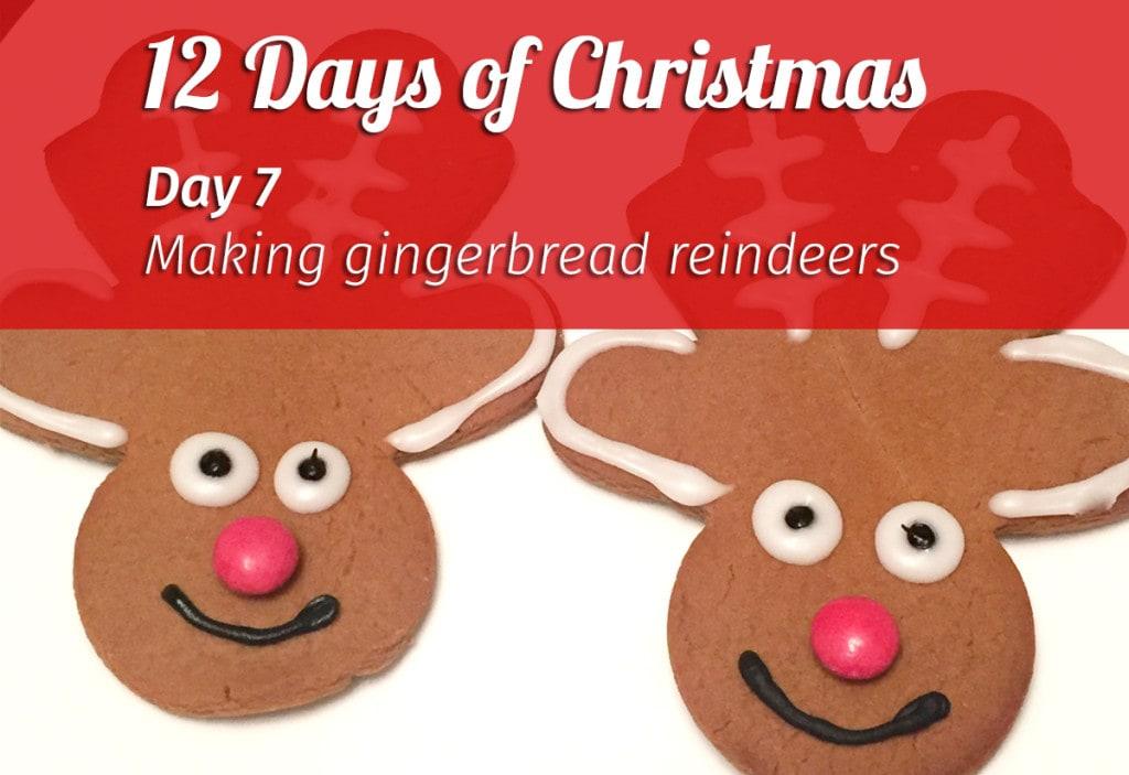 Making gingerbread reindeers