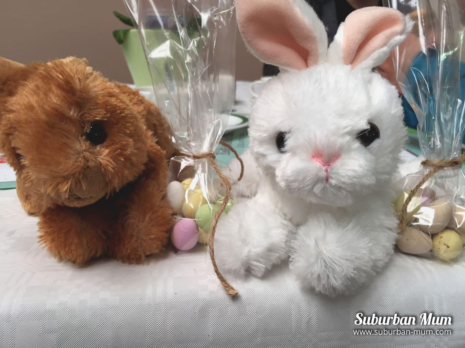 Cuddly toy bunnies from Wyevale Garden Centre