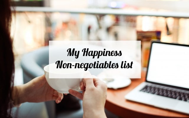 happiness-non-negotiables
