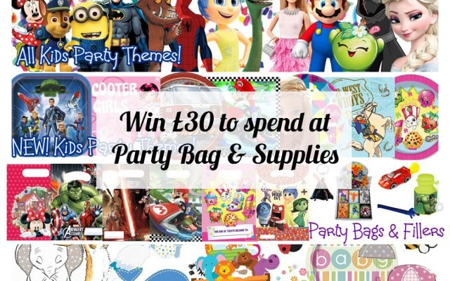 Win £30 to spend at Party Bags & Supplies