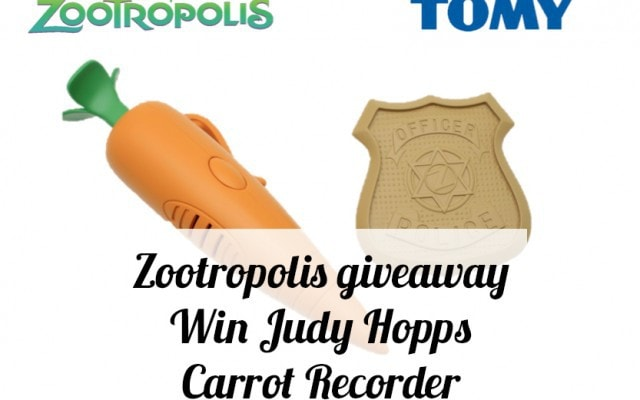 Zootropolis giveaway with Tomy Toys