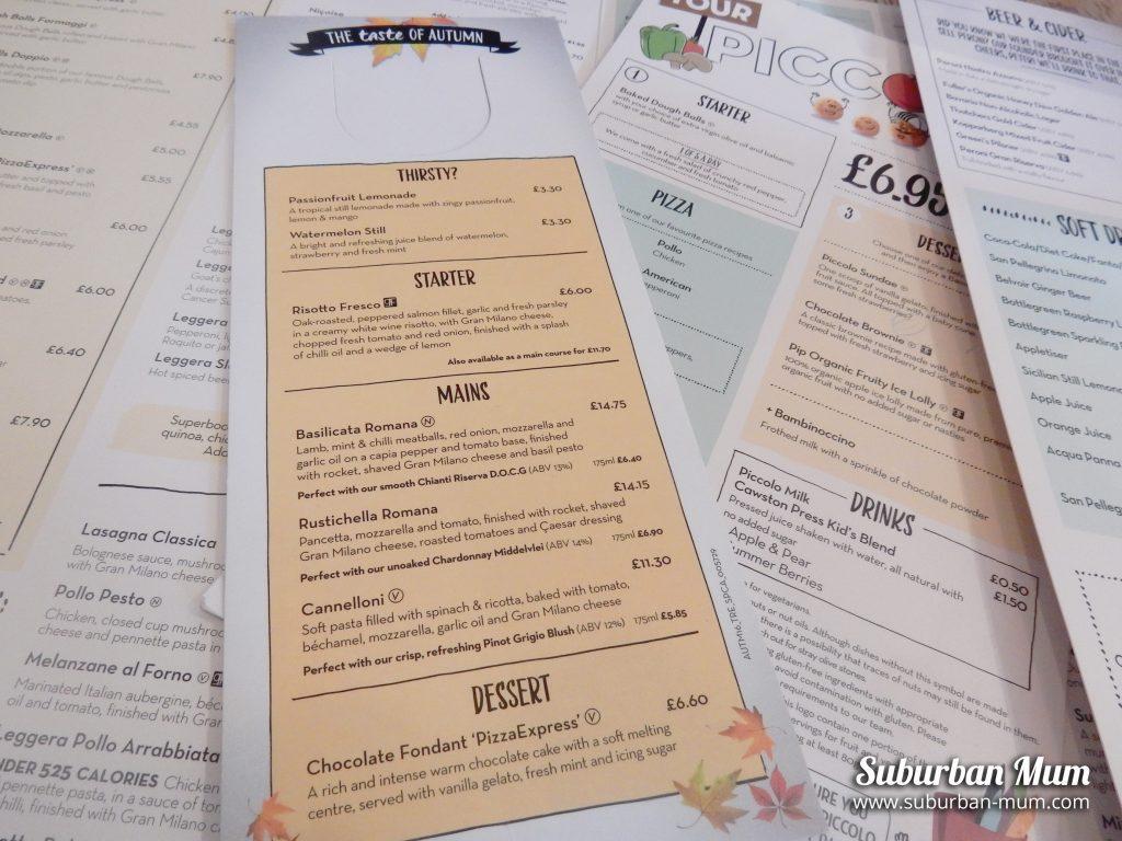 pizza-express-menus