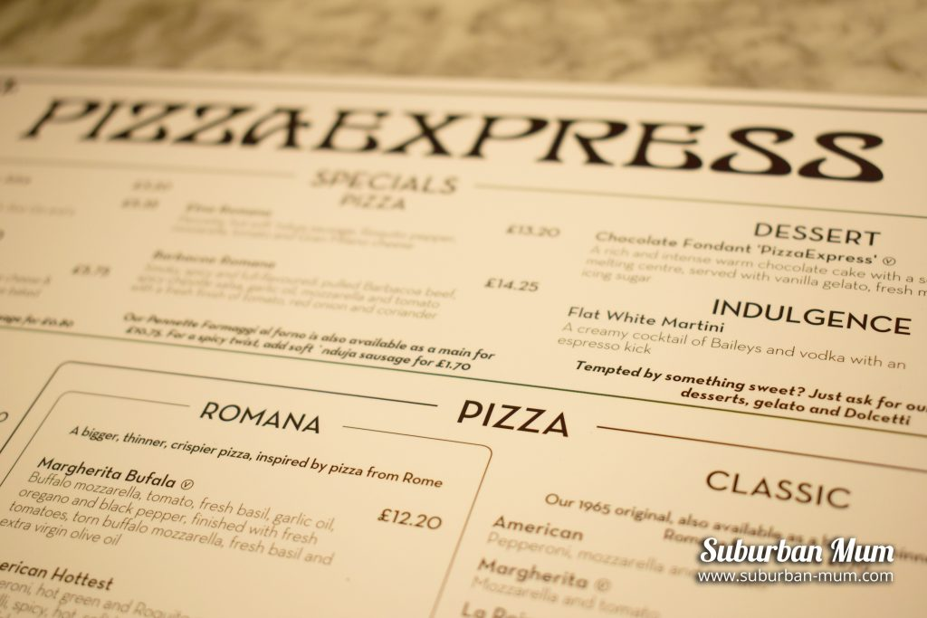 pizza-express-menu