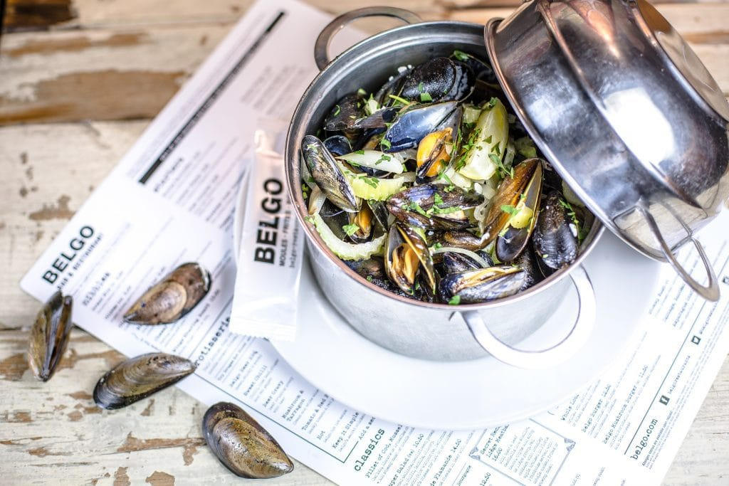 Mussels at Belgo