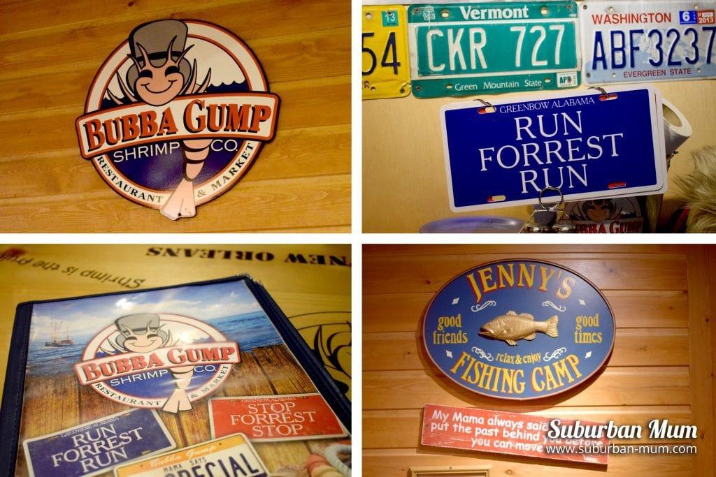 Bubba Gump memorabilia