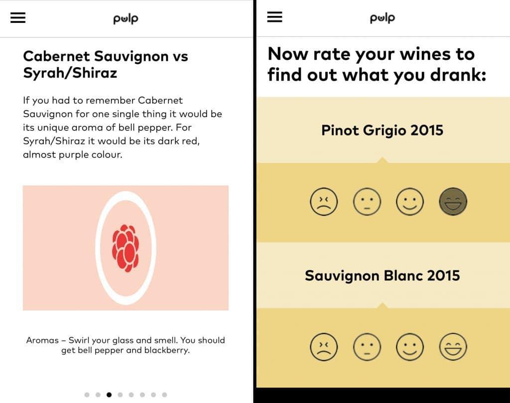 Pulp Wine tasting lessons