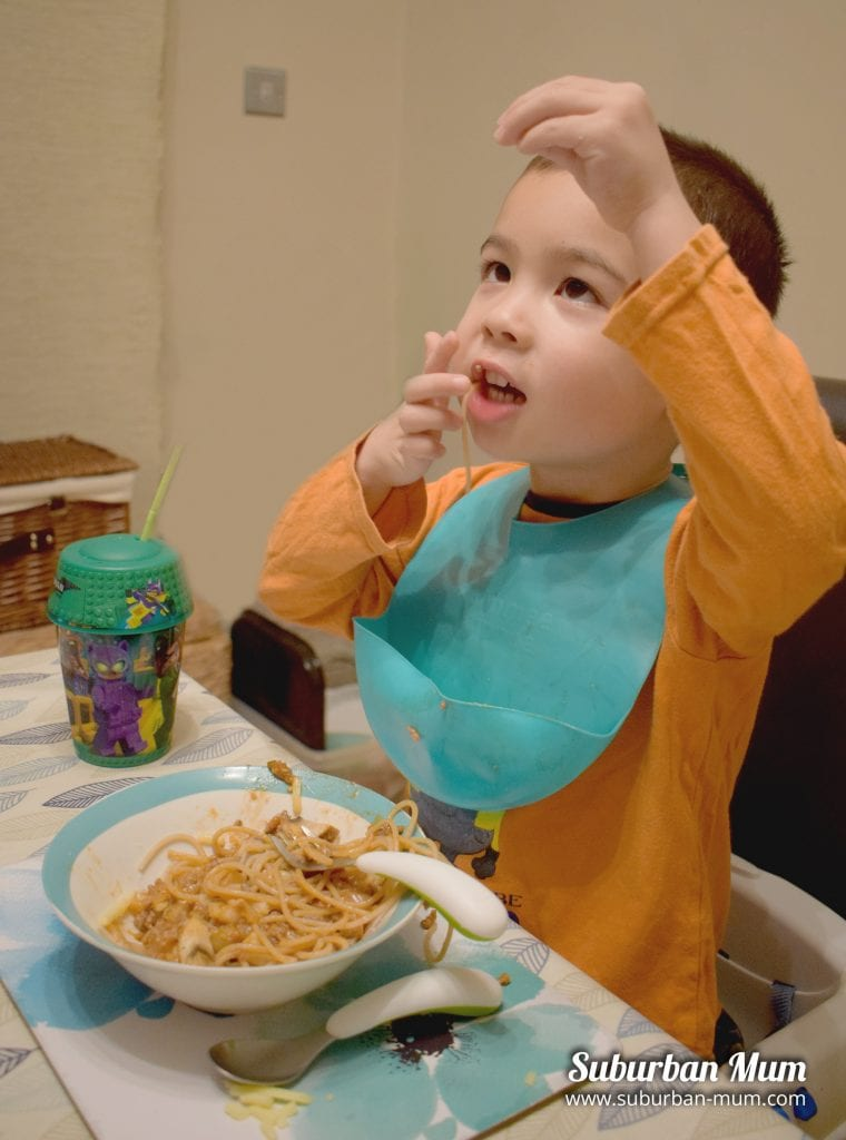 M eating spaghetti