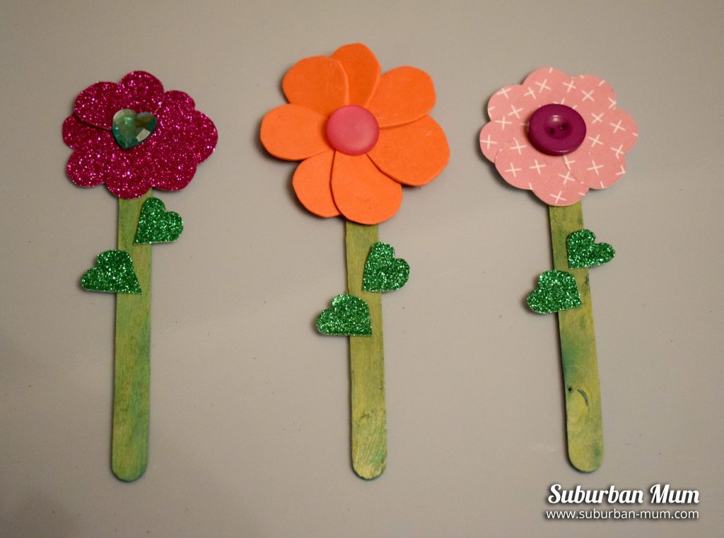 Easy Mothers Day Crafts - lollipop-flowers