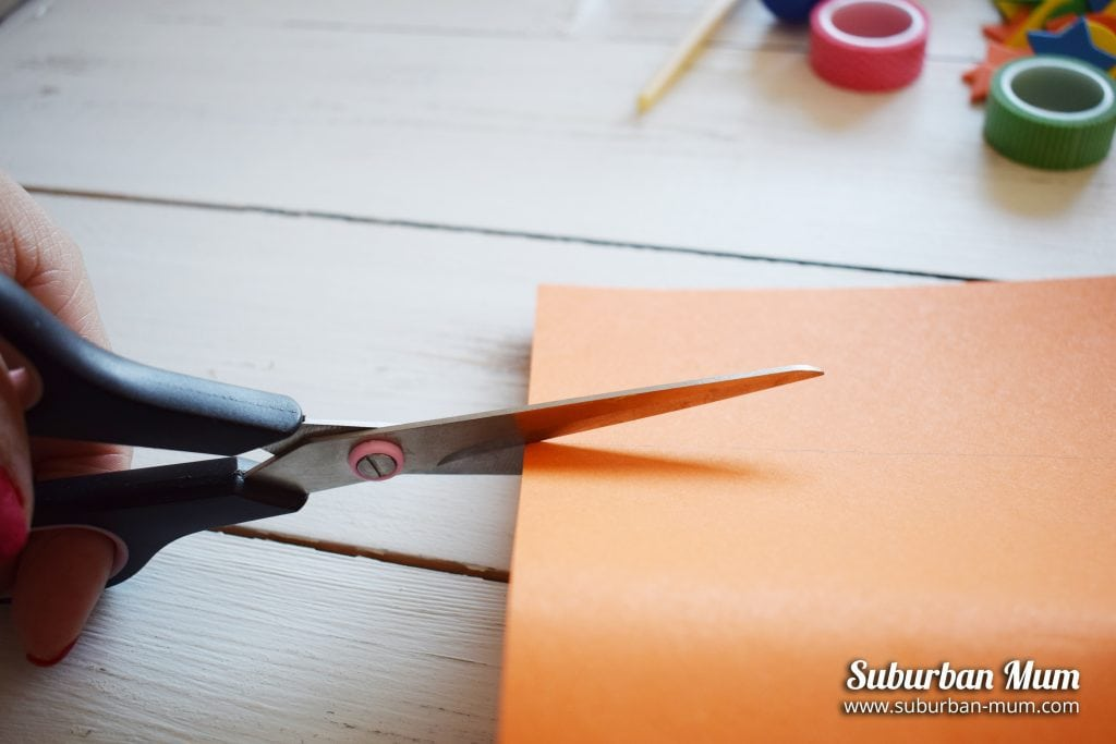 Cutting coloured card