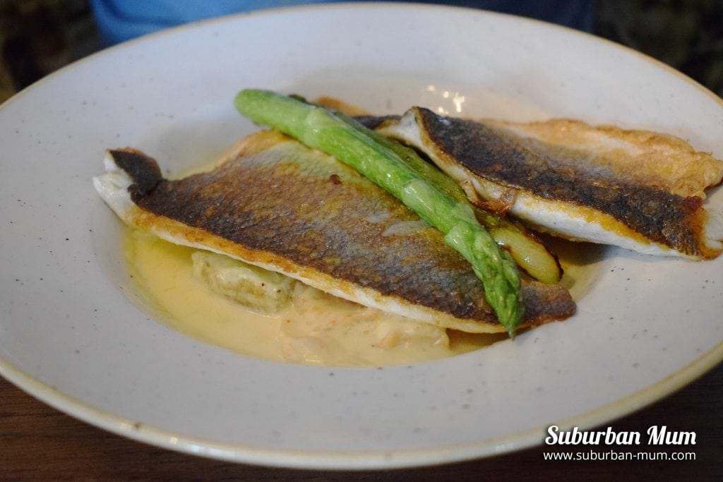 Seared fillet of Sea bass - The Thames Court, Shepperton