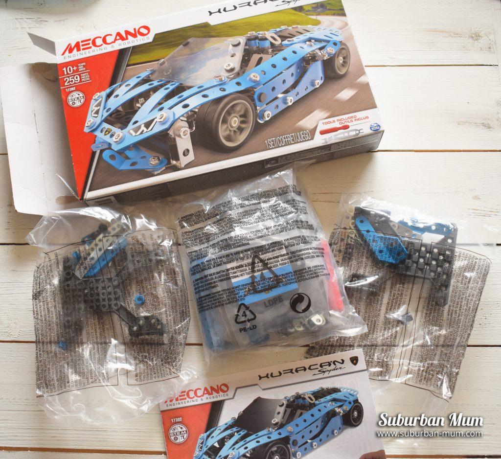 Building Meccano Lamborghini Huracan Spyder