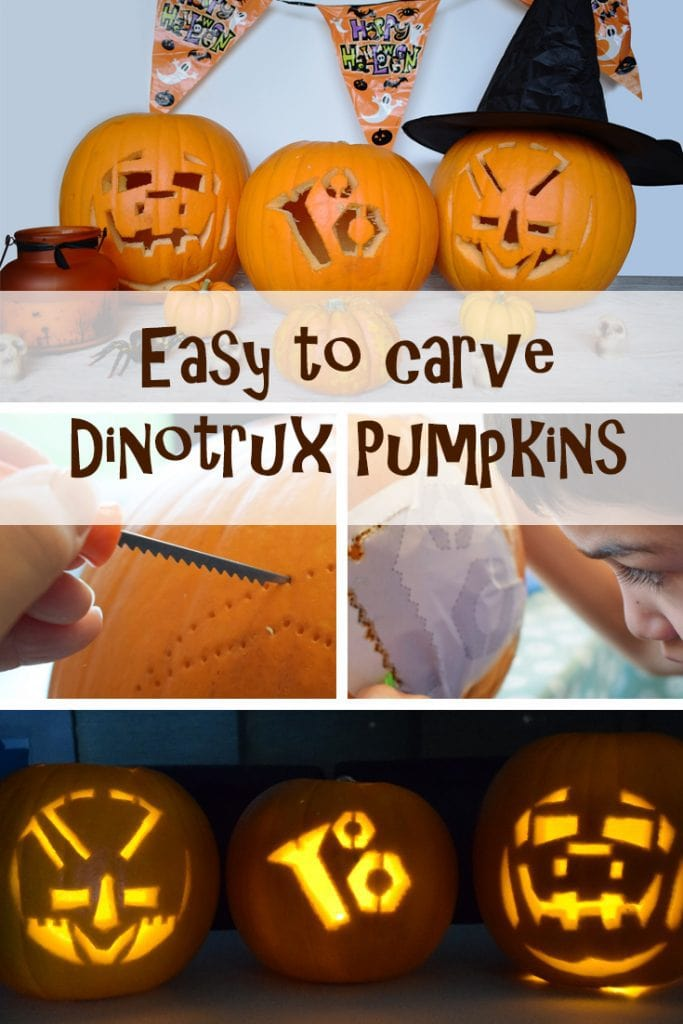 Easy to Carve Dinotrux Pumpkins