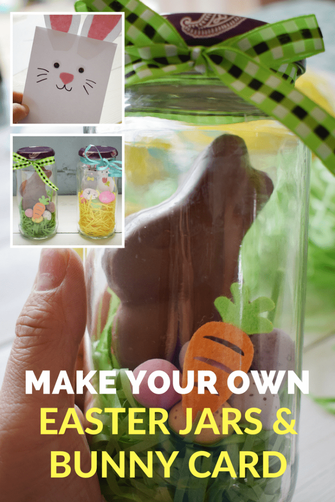 Easter Jars & Bunny Card