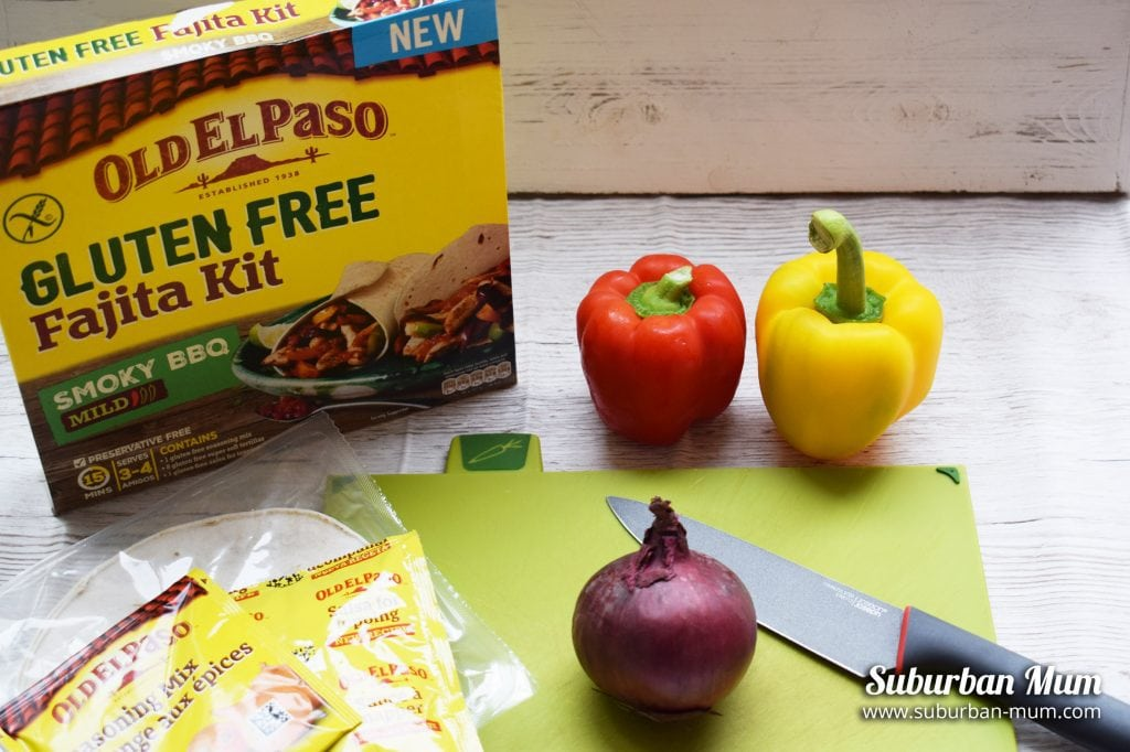 Mexican Feast with Old El Paso Gluten Free Fajita Kit