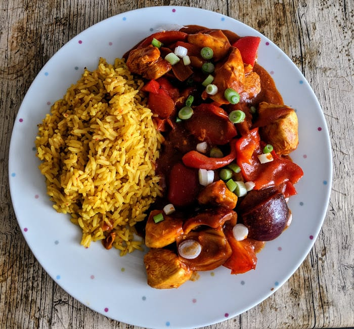 malaysian-red-pepper-and-chicken-curry-pilau-rice
