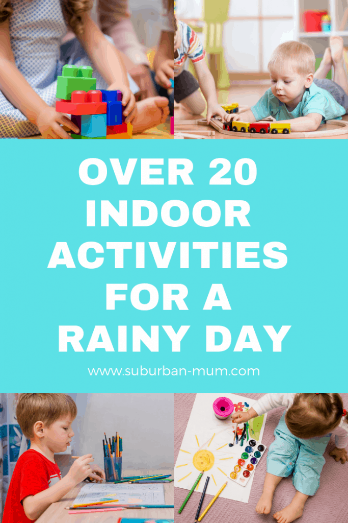 Over 20 Indoor Activities for a Rainy Day - It's hard to keep kids entertained for too long so I here's a list of some tried and tested ideas for rainy day activities for kids of all ages.