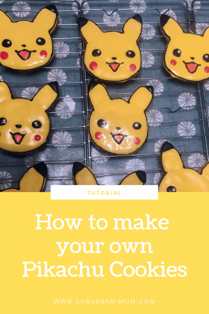 How to make your own Pikachu cookies tutorial