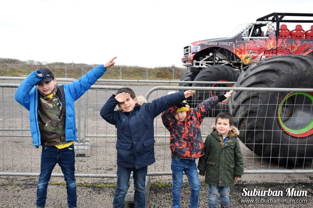 boys at stuntfest, santa pod raceway