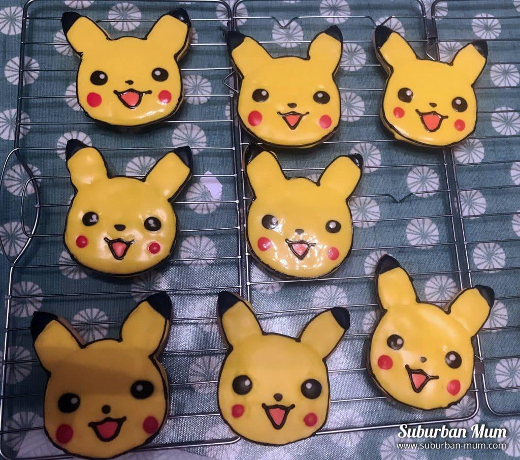 iced pikachu cookies
