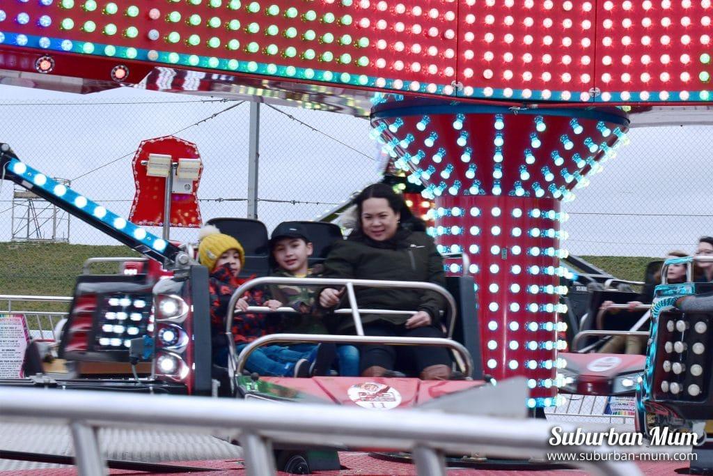 sizzler fairground ride, stuntfest, santa pod raceway