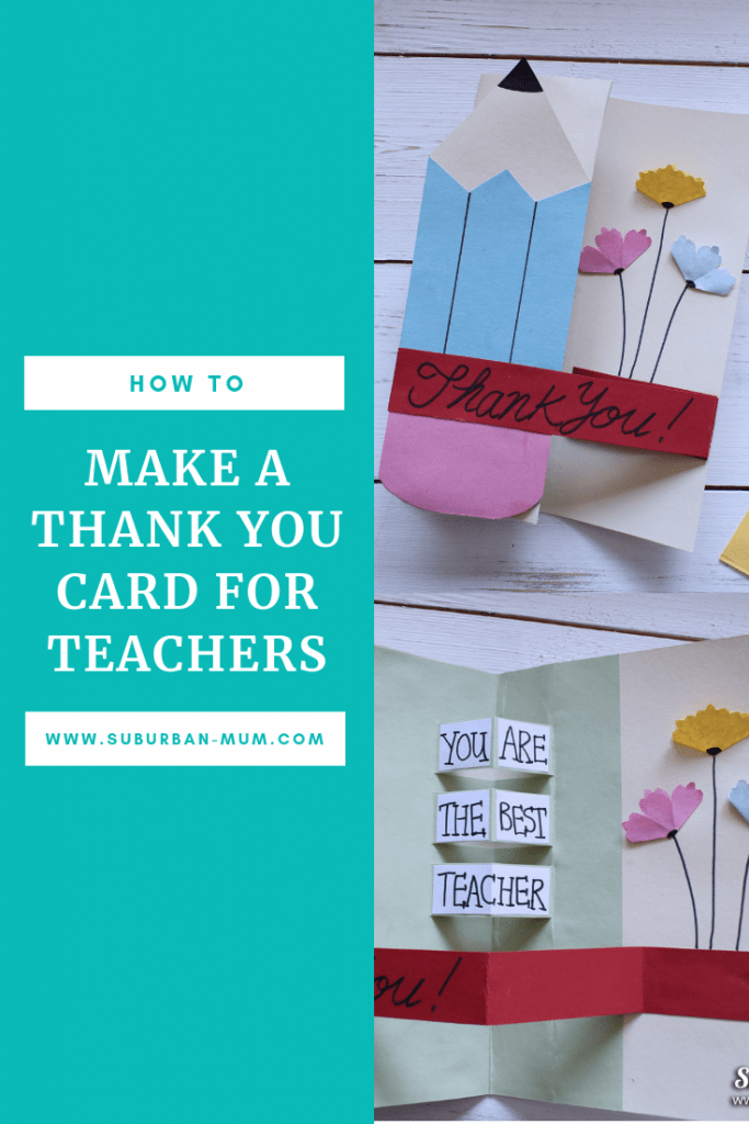 How to make a Thank You card for Teachers