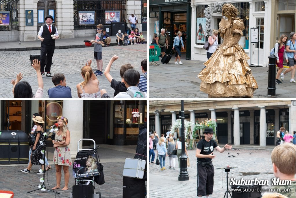 Covent Garden street performers