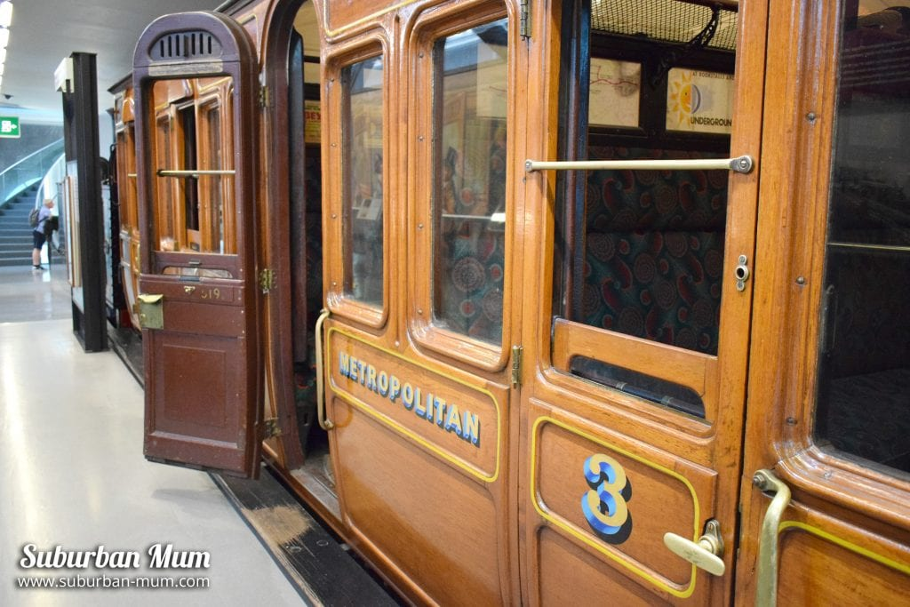 Old train carriage, London Transport Museum