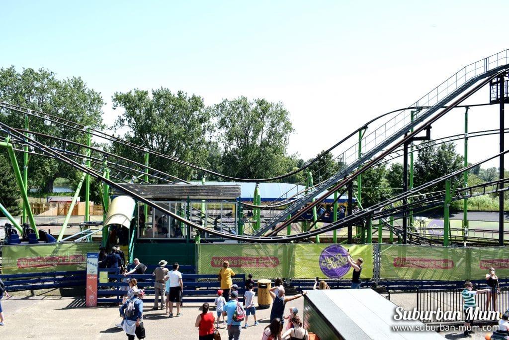 Pinfari rollercoaster, Wicksteed Park