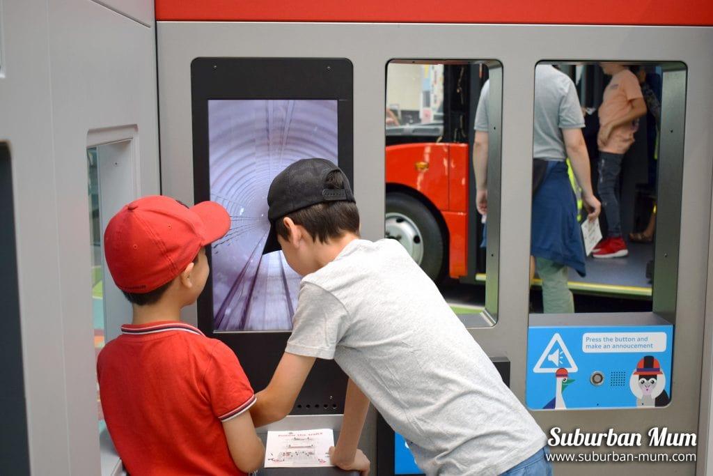 Tube simulator, London Transport Museum