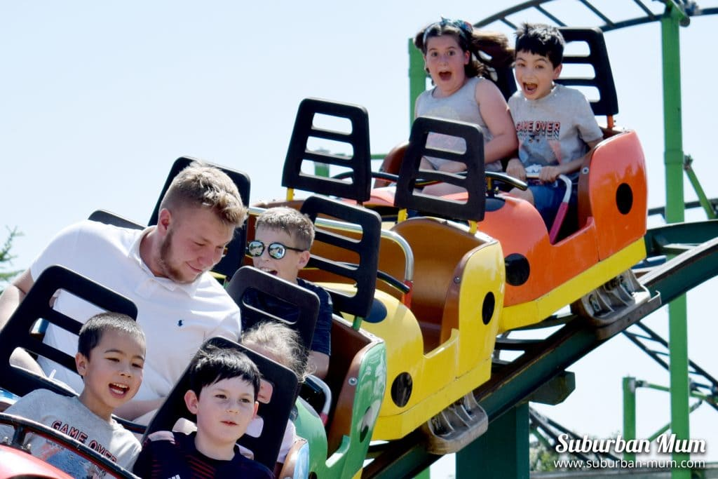 Kids on Ladybird Coaster, Wicksteed Park