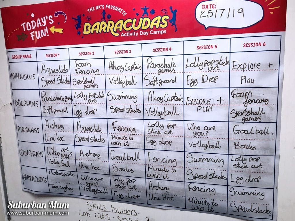 barracudas-timetable