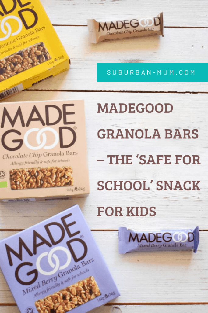 MadeGood granola bars - the safe for school' snack for kids