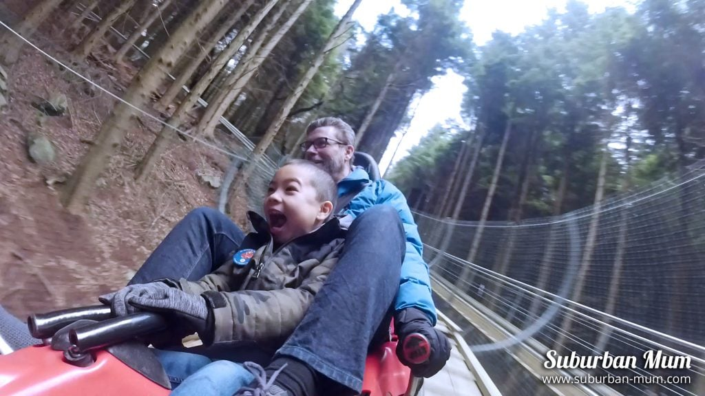 Riding the Zip World Fforest Coaster in North Wales
