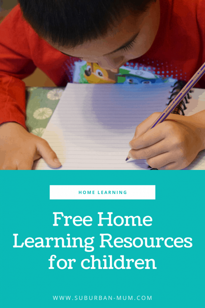 Free home learning resources for children