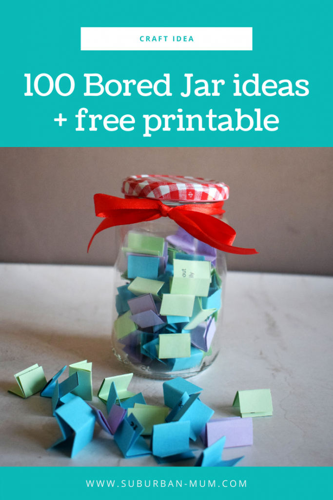 100 Bored Jar Ideas Free Printable Suburban Mum